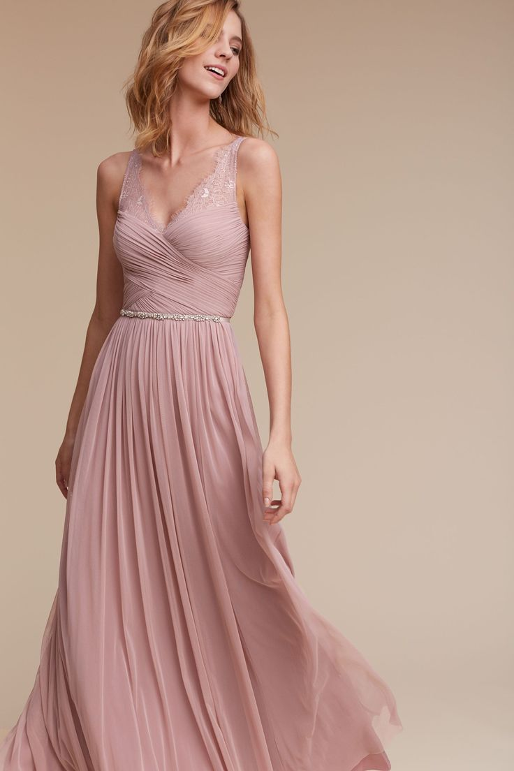 Best 25 dusty pink bridesmaid dresses ideas only on pinterest bhldn fleur dress in bridesmaids bridesmaid dresses lace ombrellifo Images