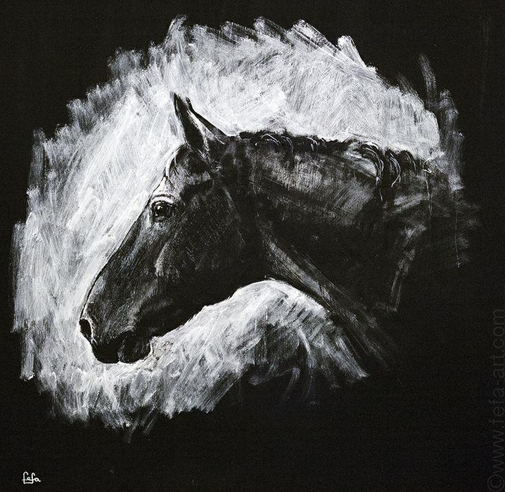 """""""Don stallion Zeits"""" Materials; ink, acryl. cardboard 2013"""