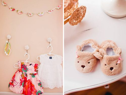 pink white elegant romantic shabby chic girl nursery dresses hanging