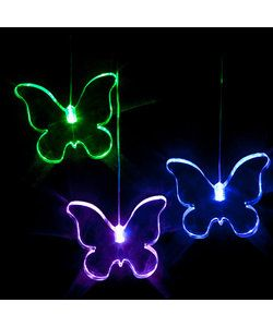 With fun acrylic shapes, these LED lights softly cycle through a spectrum of colours providing a soothing and gently stimulating light for the little ones. These battery operated lights can be hung anywhere.  Butterfly Mobile LED - Full colour cycle Code: MOBU RRP $39.95