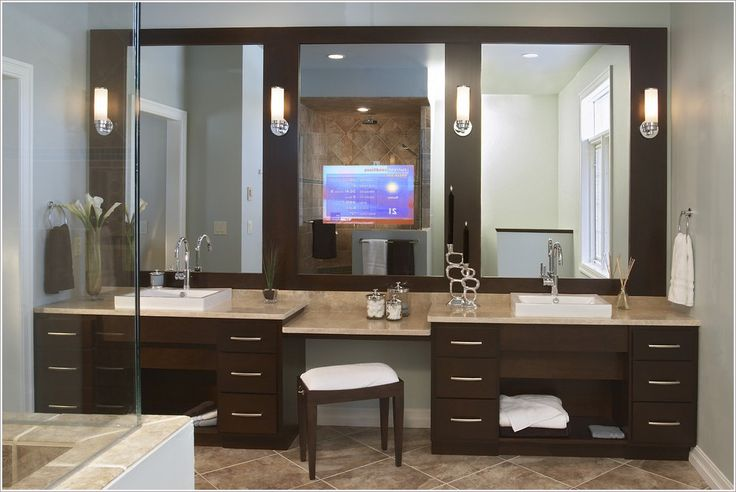 45 best bathroom dressing tables images on Pinterest Bathroom lighting, Bathroom remodeling ...