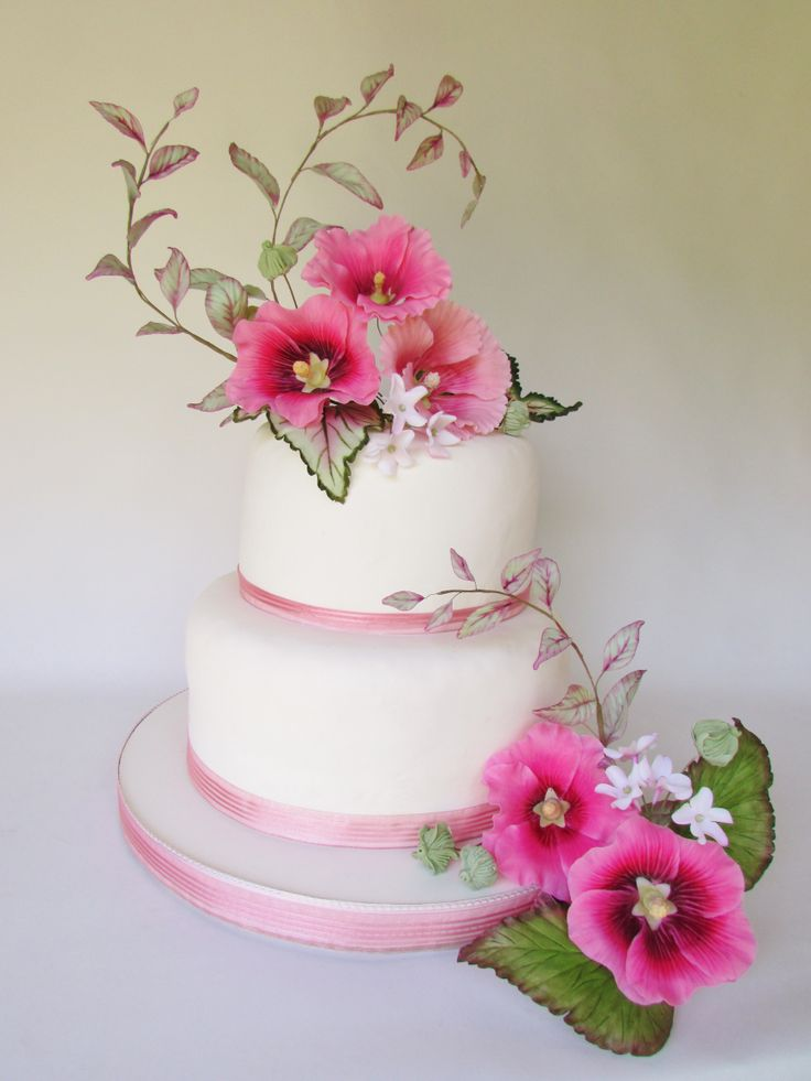 Arreglo floral para torta Cold Porcelain