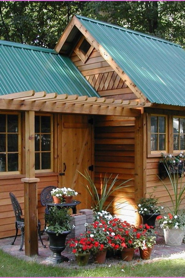 29 Awesome Potting Shed Renovated Designs For Your Garden Project Garden Shed Ideas Design No 4841 Gardensheds Repurp Casas Pequenas Patios Traseros Casas