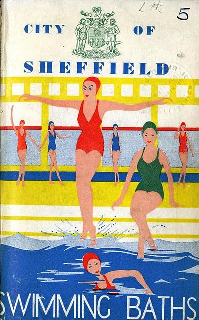 Swimming Baths, Sheffield - 1950s Advertisement by Sheffield Libraries and Archives (via Flickr) #socialsheffield #sheffield