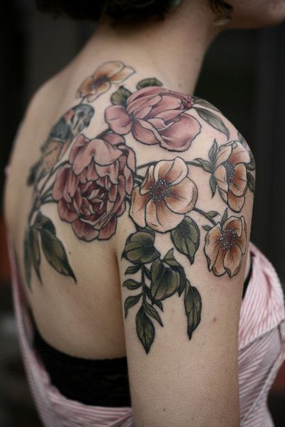 Vintage Mood - Stunning Floral Tattoos That Are Beautifully Soft And Feminine - Photos