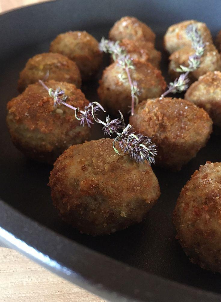 """Polpette di lenticchie e pomodori secchi - Vegan sun-dried tomato lentil """"meat"""" ball"""