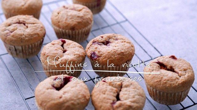 Muffins à la ricotta et aux framboises