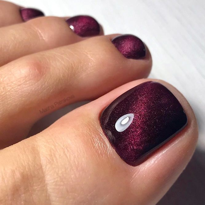 30 Majestic Fall Toe Nail Designs Images For 2019: 44 Amazing Toe Nail Colors To Choose In 2019
