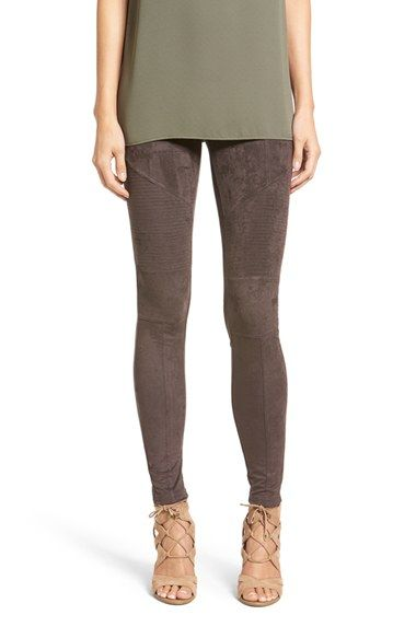 Free shipping and returns on Sun & Shadow Faux Suede Leggings at Nordstrom.com. Moto-inspired stitching adds subtle edge to comfy-chic leggings with a plush faux-suede finish.