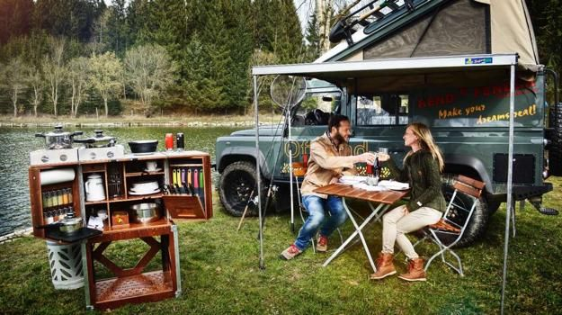Mobile kitchen design is an extraordinary idea, offering great opportunities to cook delicious meals away from home. The solid cooking station is called Camp Champ.It neatly packs a full camp kitchen into a wooden trunk. The box opens up into a full kitchen complete with stove, cookware, dishes, too