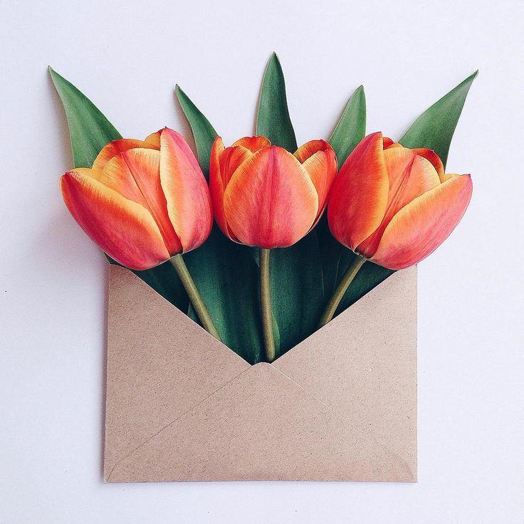 Свадьбой, тюльпан для открытки из цветной бумаги