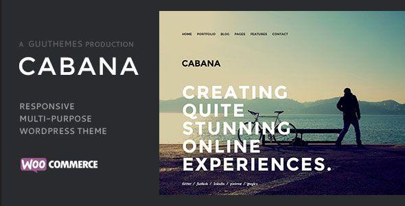 CABANA es una plantilla web creativa elegante, sencilla y visualmente impresionante, se puede utilizar ya sea como una plantilla 'de una página', o como multi-página. Es perfecto para cualquiera equipo de trabajo, o un único profesional independiente creativo.   http://ivanfiestas.com/tienda/plantillas-web-wordpress/cabana-tema-responsivo-creativo