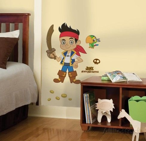 Jake & the Neverland Pirates Peel & Stick Giant Wall Decal Väggdekal