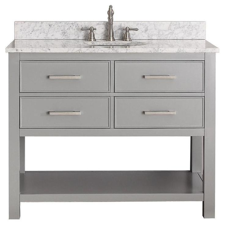 Vanity Brooks Chilled Grey 42 Inch Vanity Combo With Its