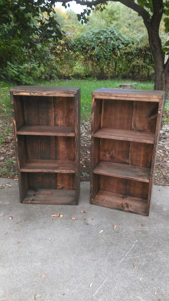 Unique Ipswich Pine Stain Reclaimed Wood Book Shelf Bookcase Rustic ...