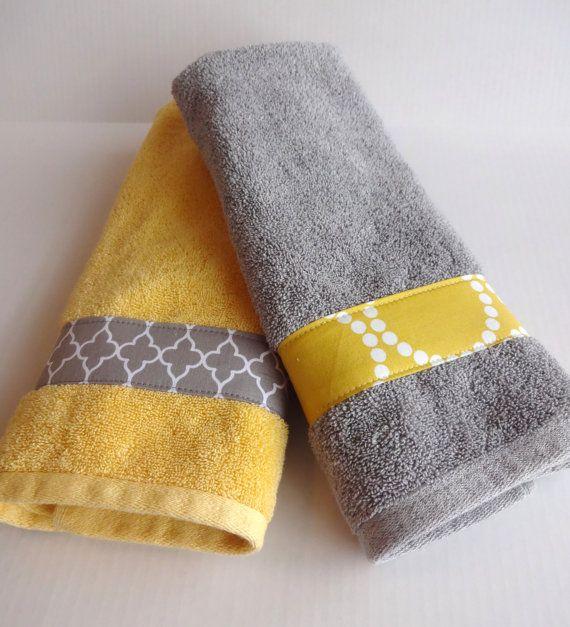 Gelb und grau-Badetücher gelb und grau gelb und grau von AugustAve