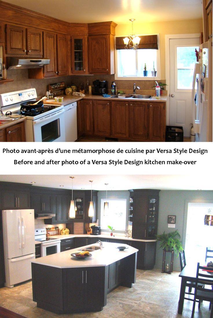Kitchen design by Versa Style Design - Before and after           Design de cuisine par Versa Style Design - Avant et après