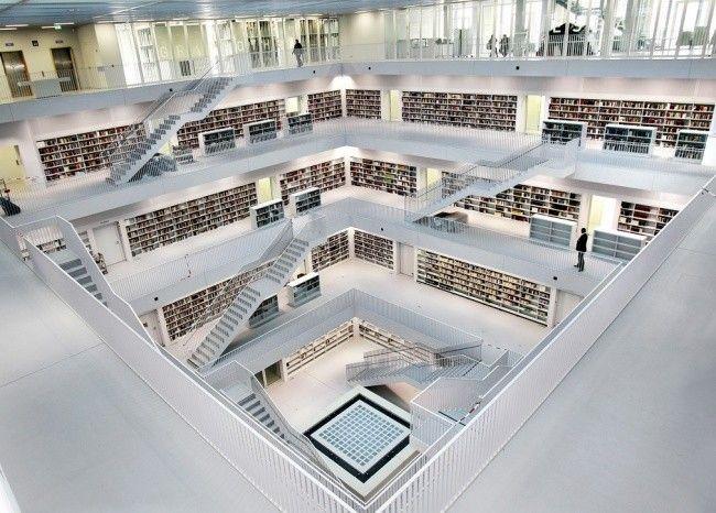 Design fuer eine moderne Bibliothek in Stuttgart http://kunstop.de/design-fuer-eine-moderne-bibliothek-in-stuttgart/ #Design #moderne #Bibliothek #Stuttgart #Architektur