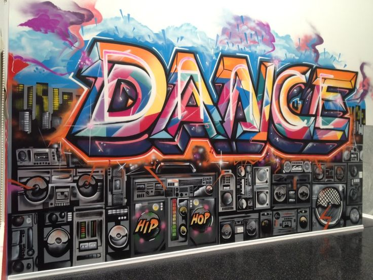 Street art dance studio mural wall pinterest dance for Porte arts and dance studio