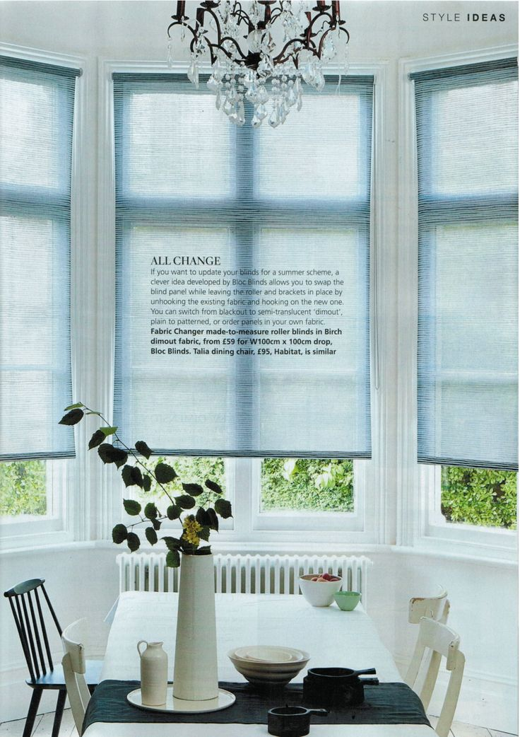 Bloc Blinds featured in the June issue of House Beautiful. A wonderful full page spread showing the beautiful blinds #windowtreatments #blocblinds #blinds