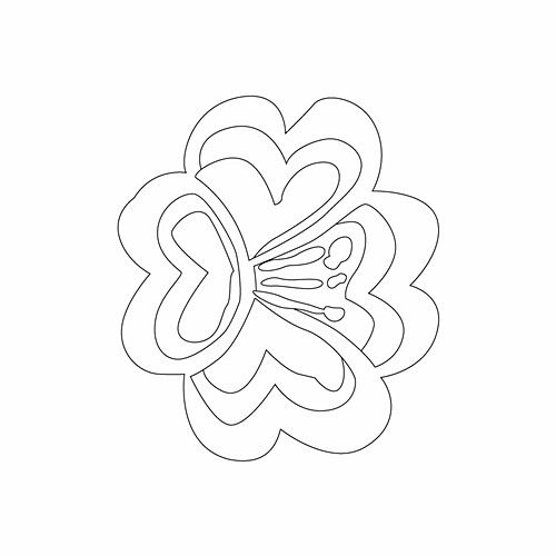 Korean flower embroidery pattern/design from a public collection of historic motifs.  #motif #freepattern #flower #embroidery #sewing #template