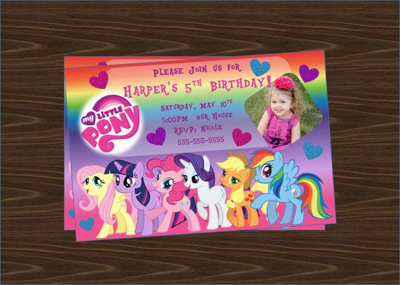 Hey, I found this really awesome Etsy listing at https://www.etsy.com/listing/184178821/my-little-pony-birthday-party-invitation