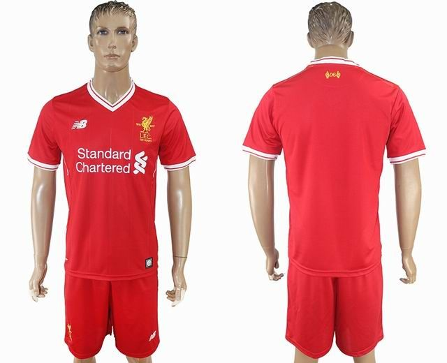 2017-2018 Liverpool club red soccer jersey home