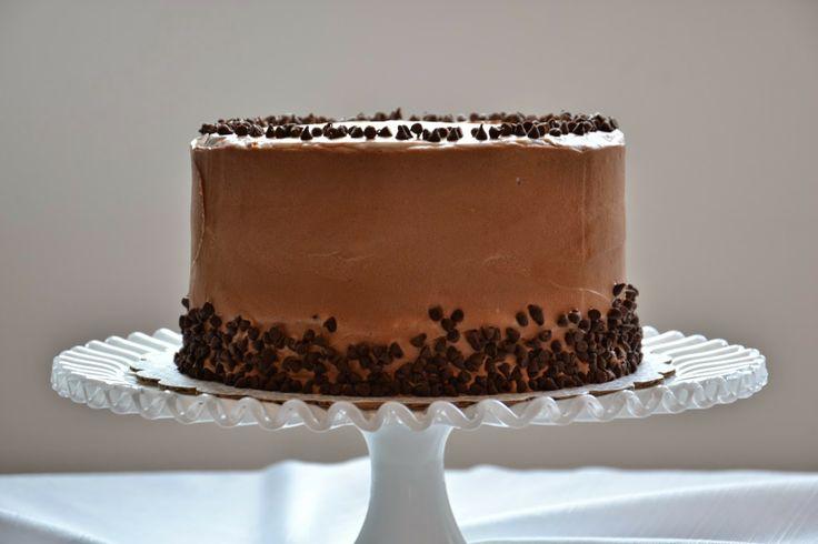 Chocolate Cake. Mascarpone. Chocolate Ganache. Mini-Chocolate Chips. Birthday.