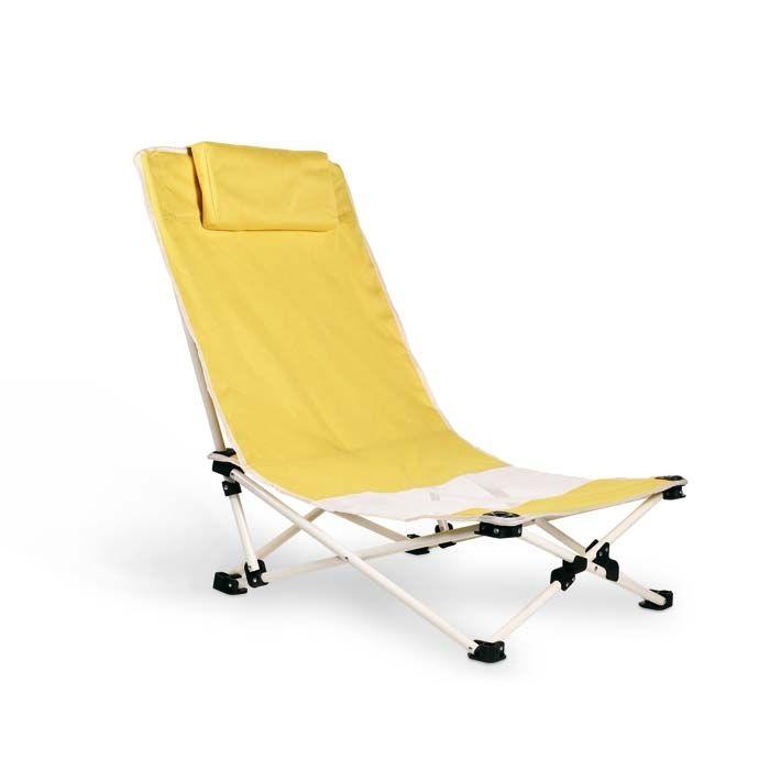CAPRI Пляжный стул с подушкой под шею  в 600D полиэстера. Стальная рама.