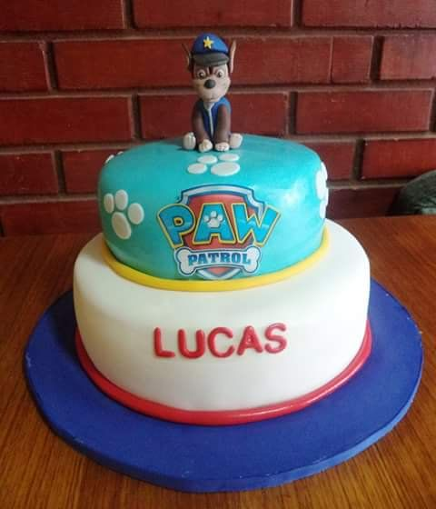 #PawPatrol #chase #Fondant #cake by Volován Productos  #instacake #puq #Chile #VolovanProductos #Cakes #Cakestagram #SweetCake