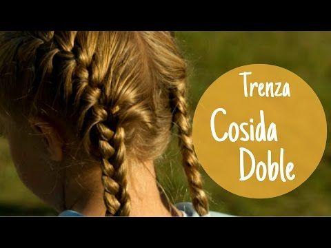 COMO HACER UNA TRENZA COCIDA DOBLE │Tutoriales Barbara - YouTube