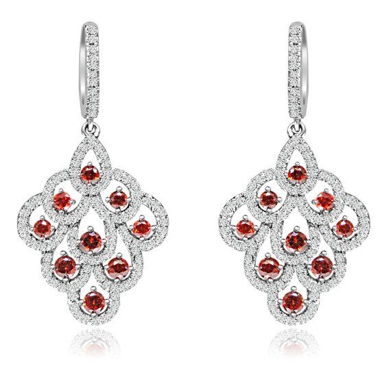 925 Sterling Silver Rose-tone CZ In /& Out Round Hoop Earrings 2mm x 41mm by 925 Sterling Shimmer