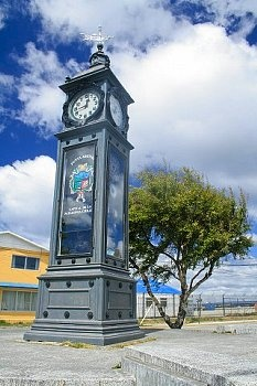 Clock and meteorological station, Punta Arenas, Chile, South America