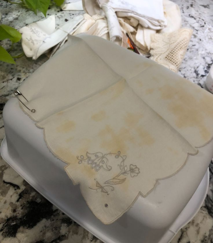 How I Clean Vintage Linens…Take Two… in 2020 Vintage
