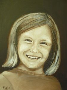 Final portrait of Lise (acrylic on canvas)