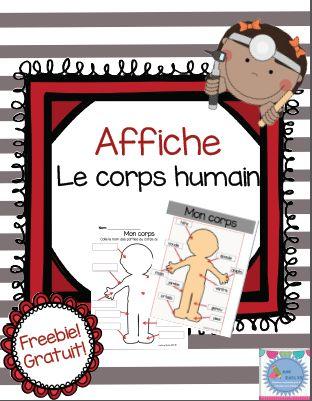 Freebie! Le blogue de Mme Émilie vous partage cette affiche et activité sur le corps humain! C'est gratuit!