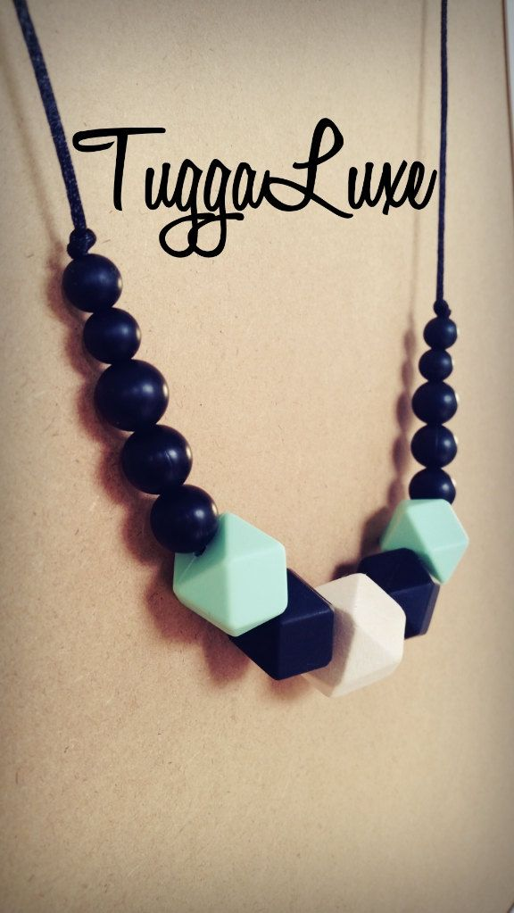 Tokyo / Teething Necklace/ Modern Style / Silicone Beads / Mom / Mothers Day / Baby Shower Gift / Nursing Necklace / Stylish / Fashion by TuggaLuxe on Etsy