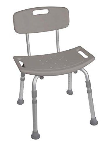 Special Offers - Bath Bench with Back Adjustable Legs Height Lightweight Shower Bench with Non-slip Seat Gray By Healthline Trading - In stock & Free Shipping. You can save more money! Check It (May 11 2016 at 10:36AM) >> http://bathstoreaccessories.net/bath-bench-with-back-adjustable-legs-height-lightweight-shower-bench-with-non-slip-seat-gray-by-healthline-trading/
