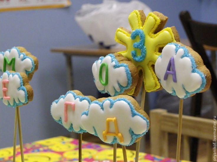 """Купить Пряничные фигурки на торт """"День рождения"""" - День рождение, торт, торты на заказ"""