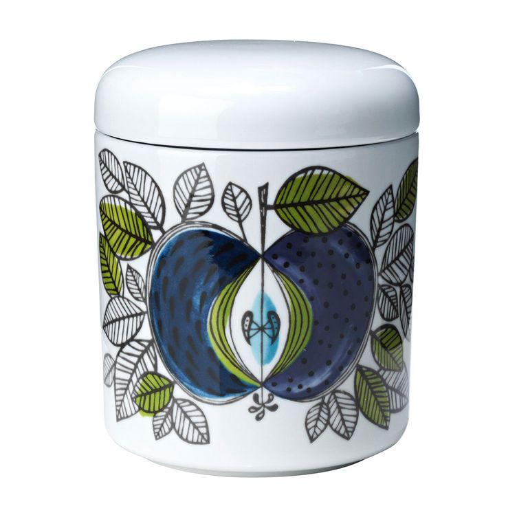 Eden boks med lokk designet av Sigrid Richter, er laget i porselen og har et vakkert design med et u...