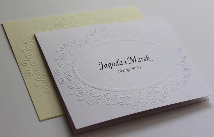 wytłaczane zaproszenia ślubne