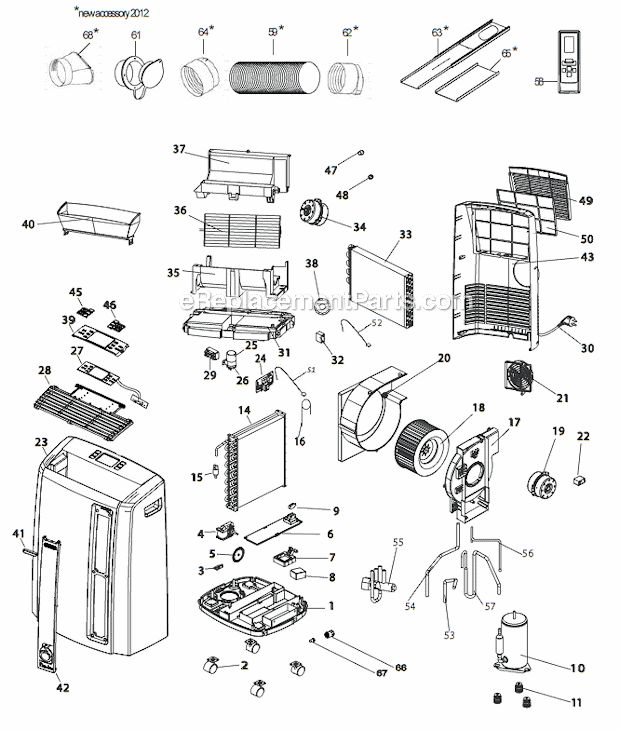Delonghi Pacan125hpec Parts List And Diagram