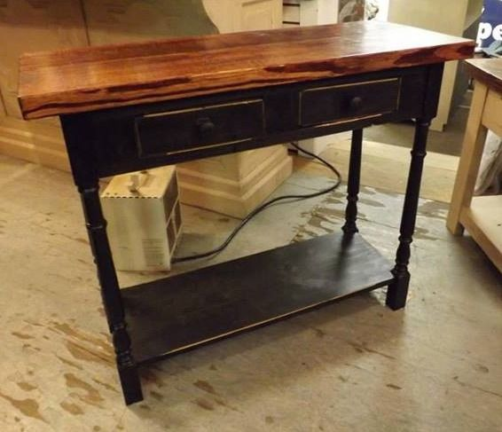 Genuine Amish hall table