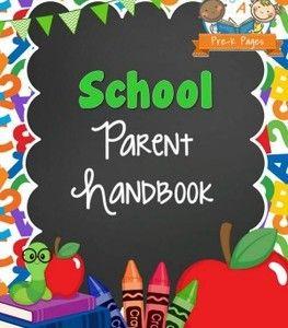 School handbook templates