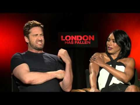 London Has Fallen: Gerard Butler & Angela Bassett Official Movie Interview - YouTube