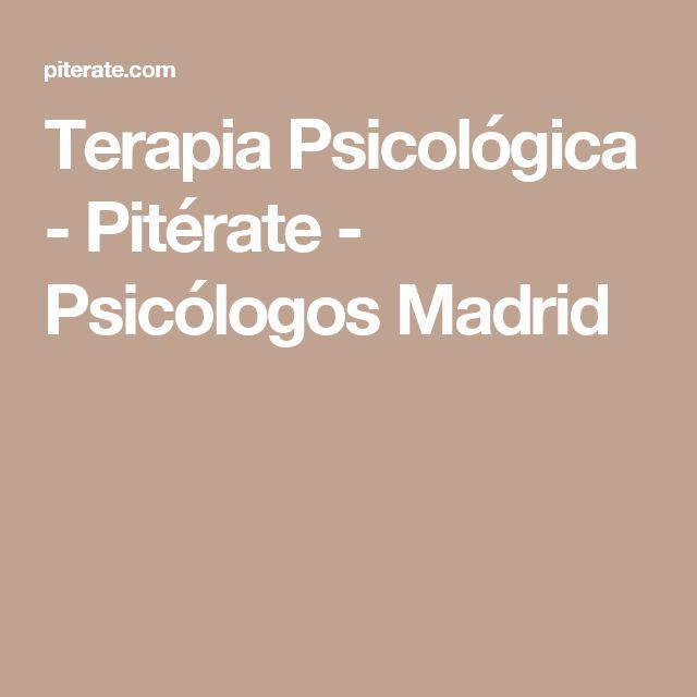 Terapia Psicológica - Pitérate - Psicólogos Madrid