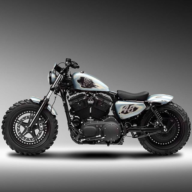 H D Sportster 48 Modified By Motogarage Moscow Spor Harley Davidson Cafe Racer