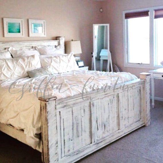 The Griffin Wood Bed Frame Wood Bed Frame Rustic Bed Frame