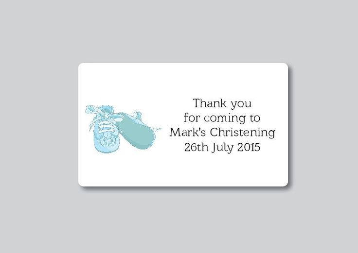 24 Personalised Christening Baptism Naming Day Holy Communion Thank You Labels