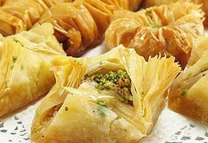 Baklavas - petits gâteaux du Moyen-Orient